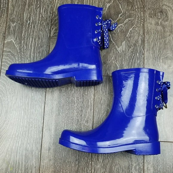 72f58f7a6cc2 crown   ivy Shoes - Crown and ivy polka dot lace up rain boots wellies